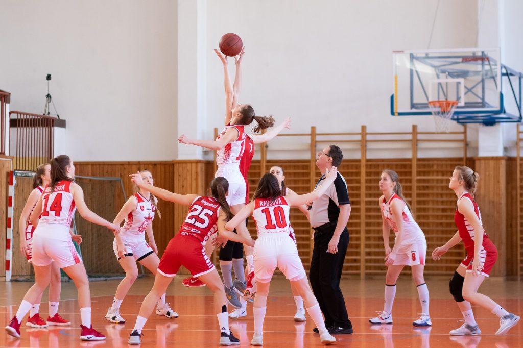 Mädchen Basketball Team